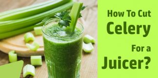 How to cut celery for a juicer
